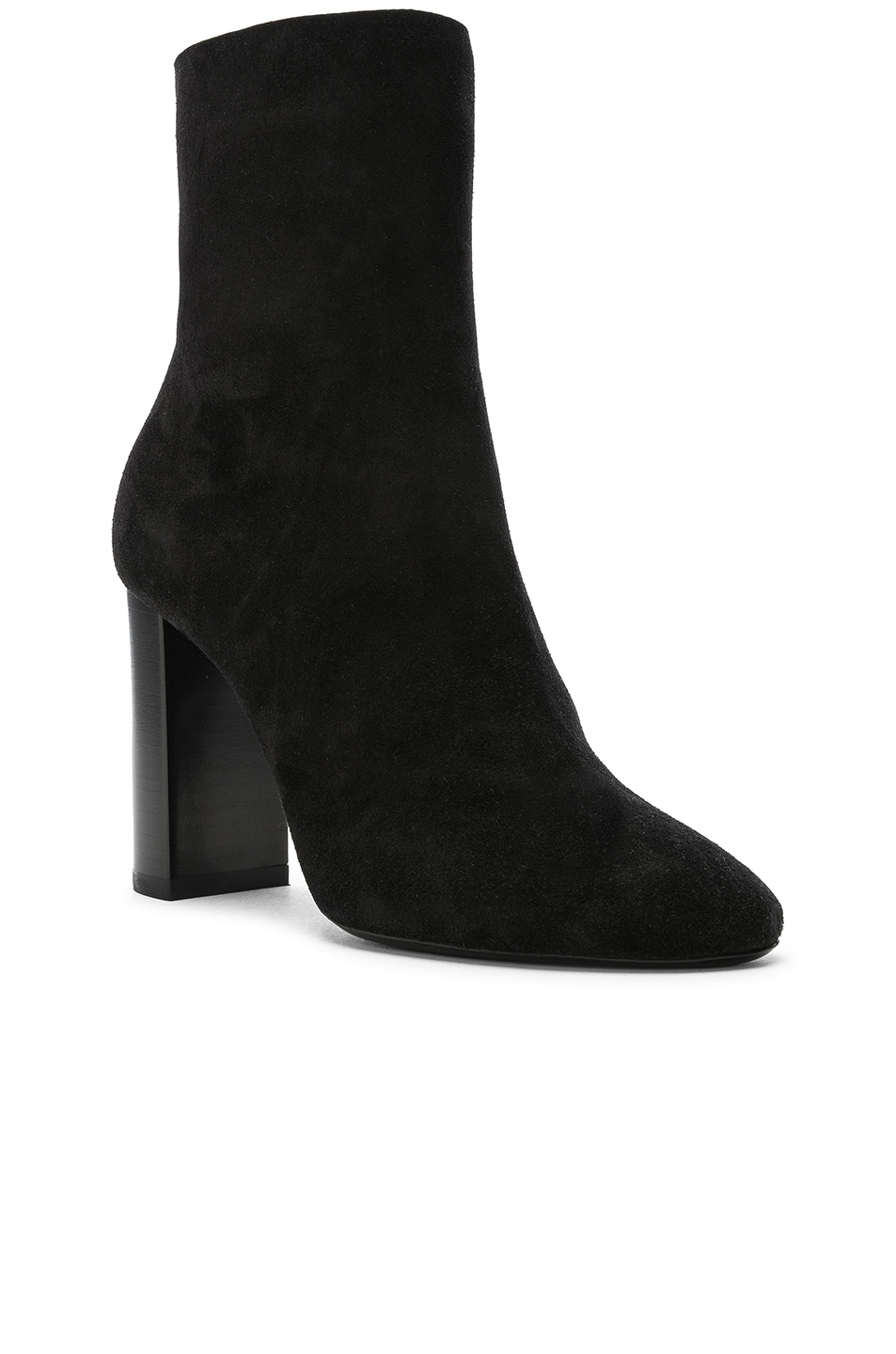 Image 2 of Saint Laurent Suede Lou Ankle Boots in Black