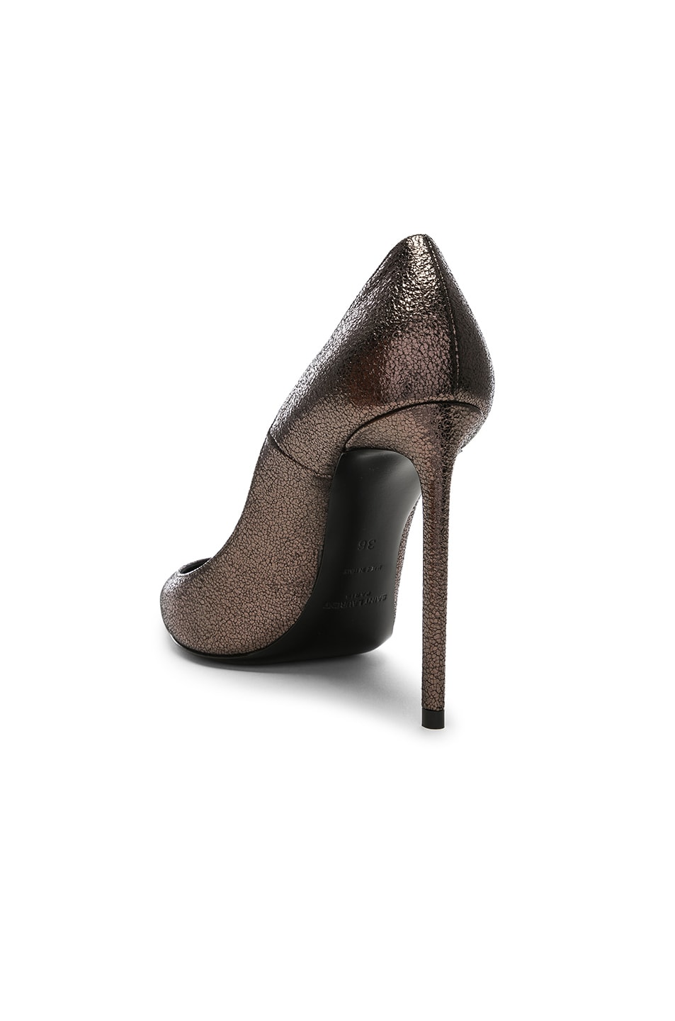 Image 3 of Saint Laurent Zoe Pumps in Gunmetal