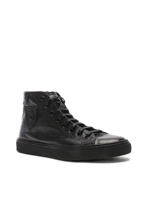 Image 2 of Saint Laurent High Top Bedford Sneakers in Black