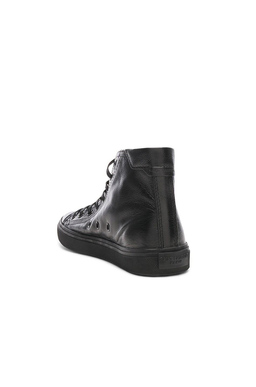 Image 3 of Saint Laurent High Top Bedford Sneakers in Black