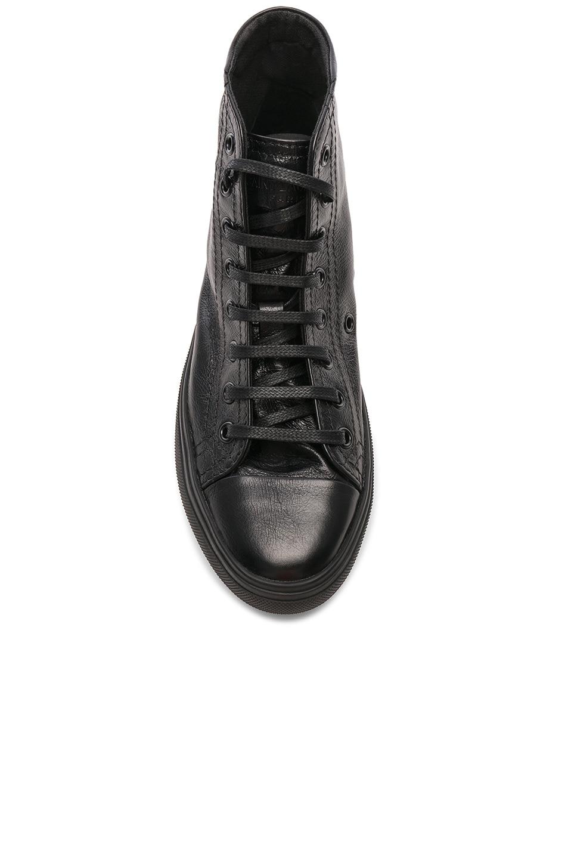 Image 4 of Saint Laurent High Top Bedford Sneakers in Black