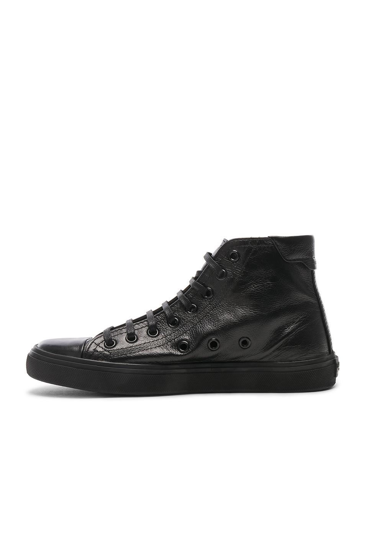 Image 5 of Saint Laurent High Top Bedford Sneakers in Black
