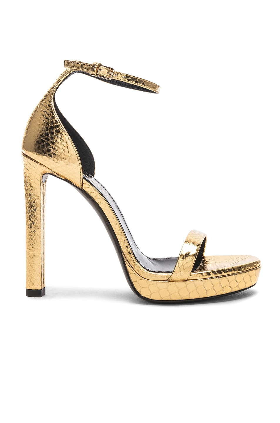 Image 1 of Saint Laurent Hall Ankle High Heels in Gold