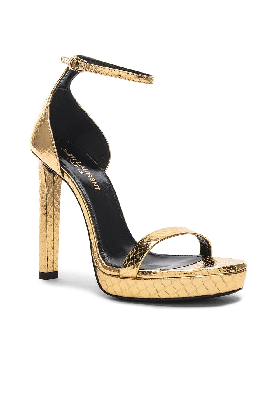 Image 2 of Saint Laurent Hall Ankle High Heels in Gold