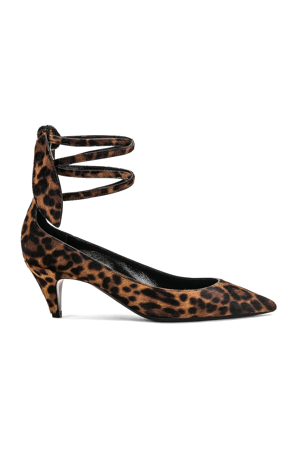 Image 1 of Saint Laurent Charlotte Leopard Kitten Heel in Leopard