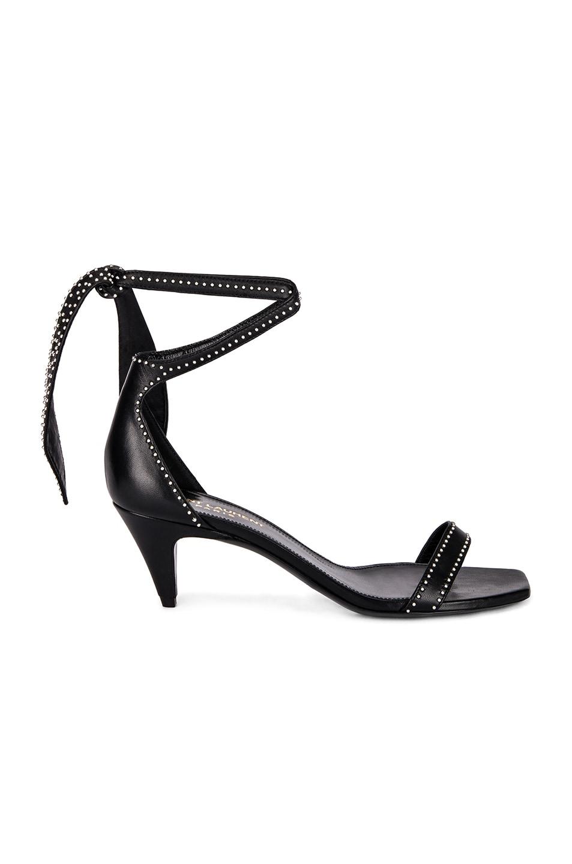 ee4d840f4b5 Image 1 of Saint Laurent Charlotte Stud Sandal in Black
