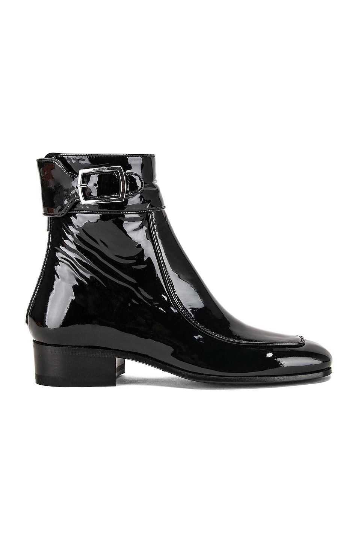 Image 1 of Saint Laurent Miles Bootie in Black