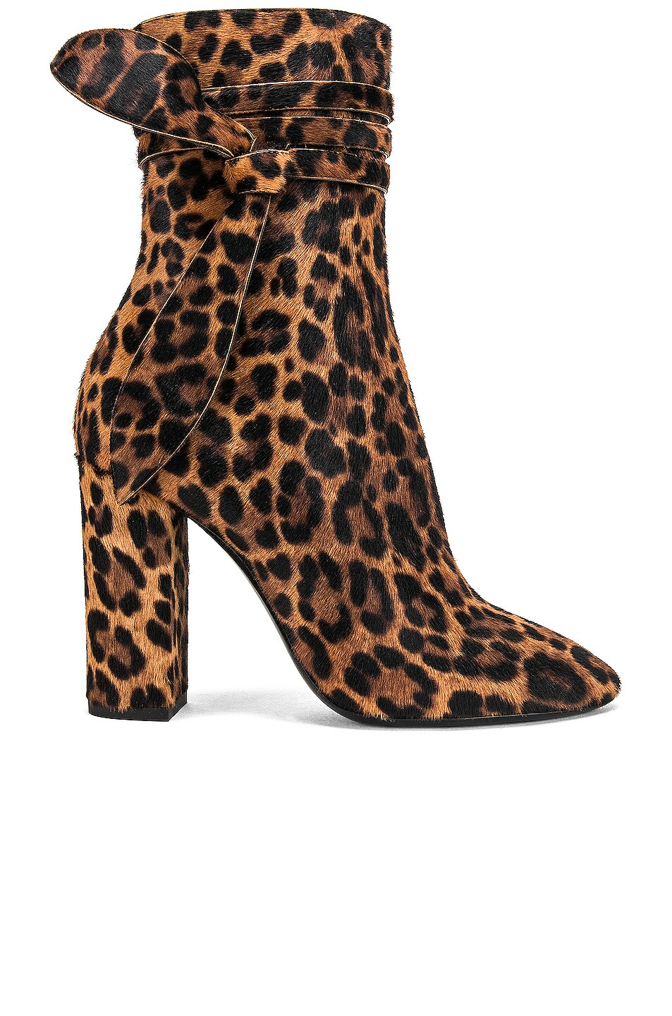 Image 1 of Saint Laurent Lou Leopard Bootie in Natural