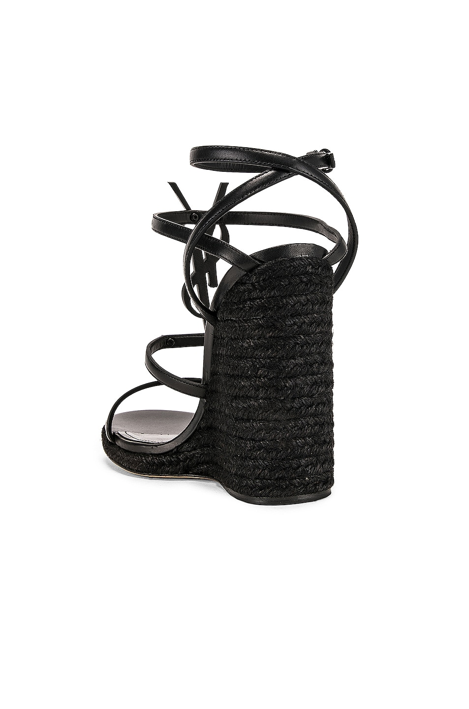 Image 3 of Saint Laurent Cassandra Espadrille Wedge in Black
