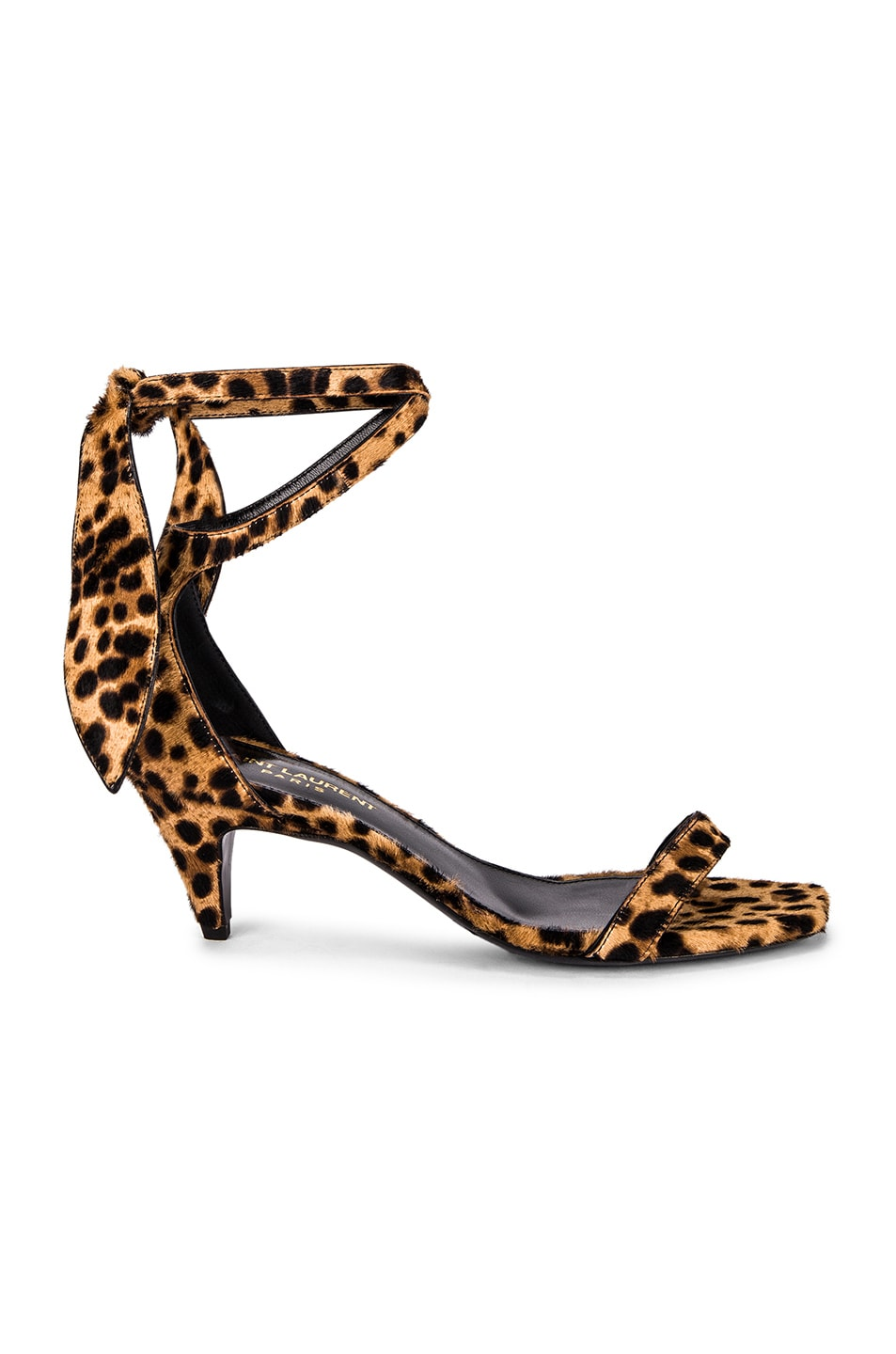 Image 1 of Saint Laurent Charlotte Leopard Sandal in Natural