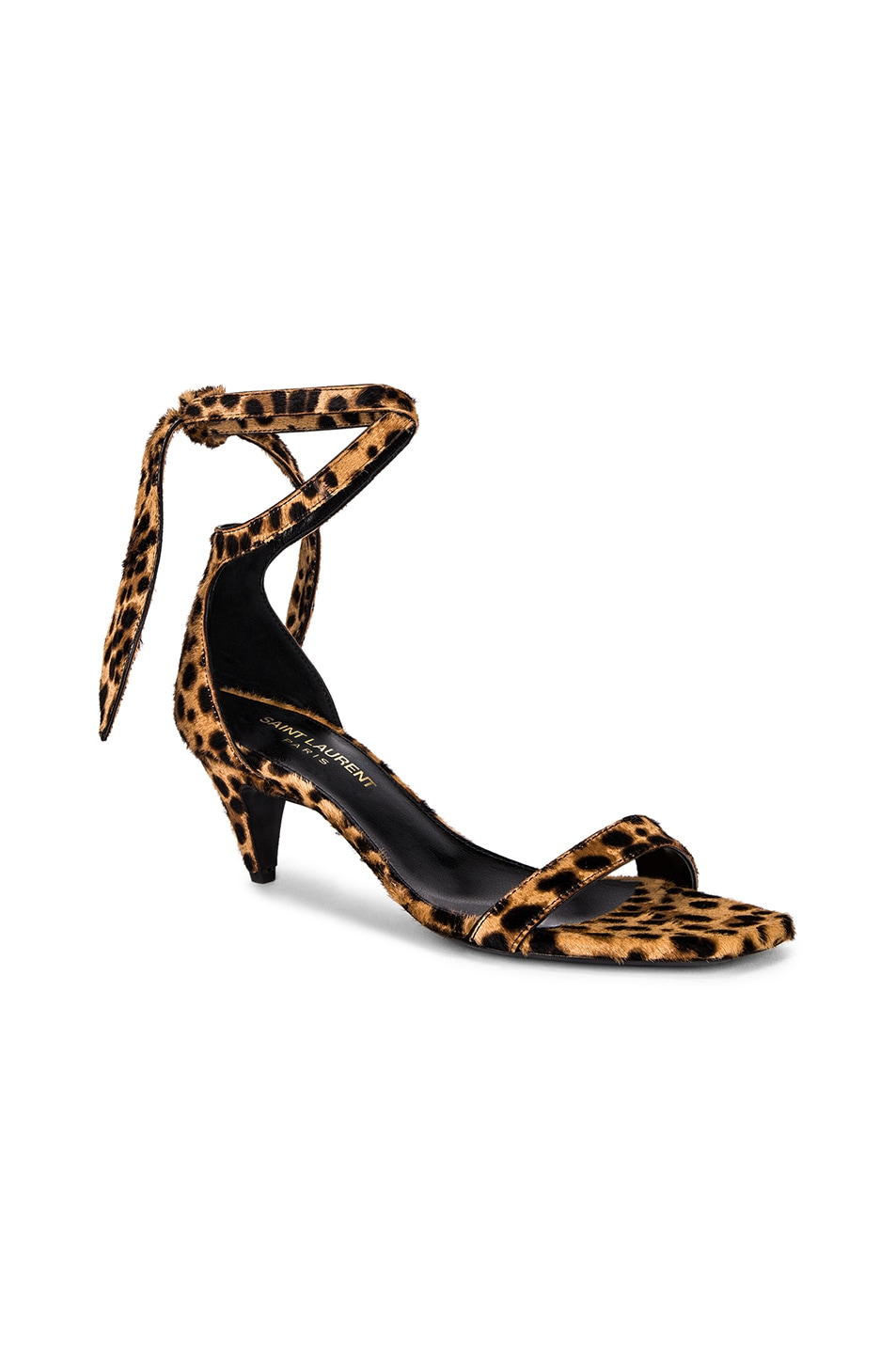 Image 2 of Saint Laurent Charlotte Leopard Sandal in Natural