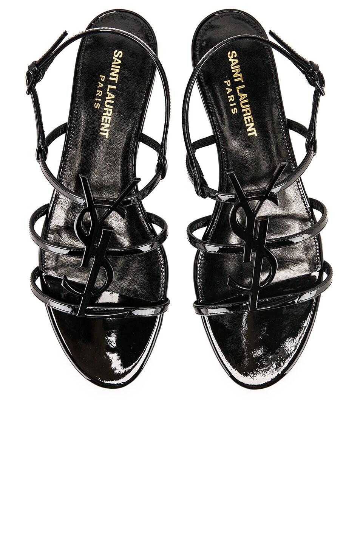 Image 1 of Saint Laurent Cassandra Sandal in Black