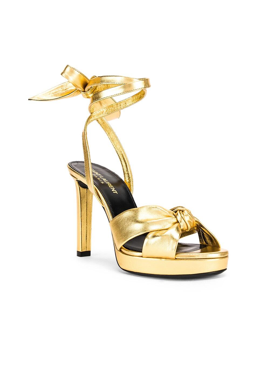 Image 2 of Saint Laurent Hall Bow Heel in Gold