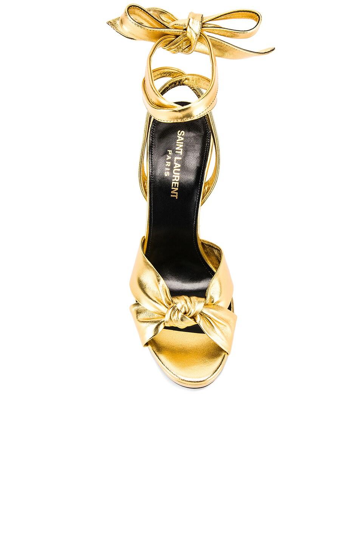 Image 4 of Saint Laurent Hall Bow Heel in Gold