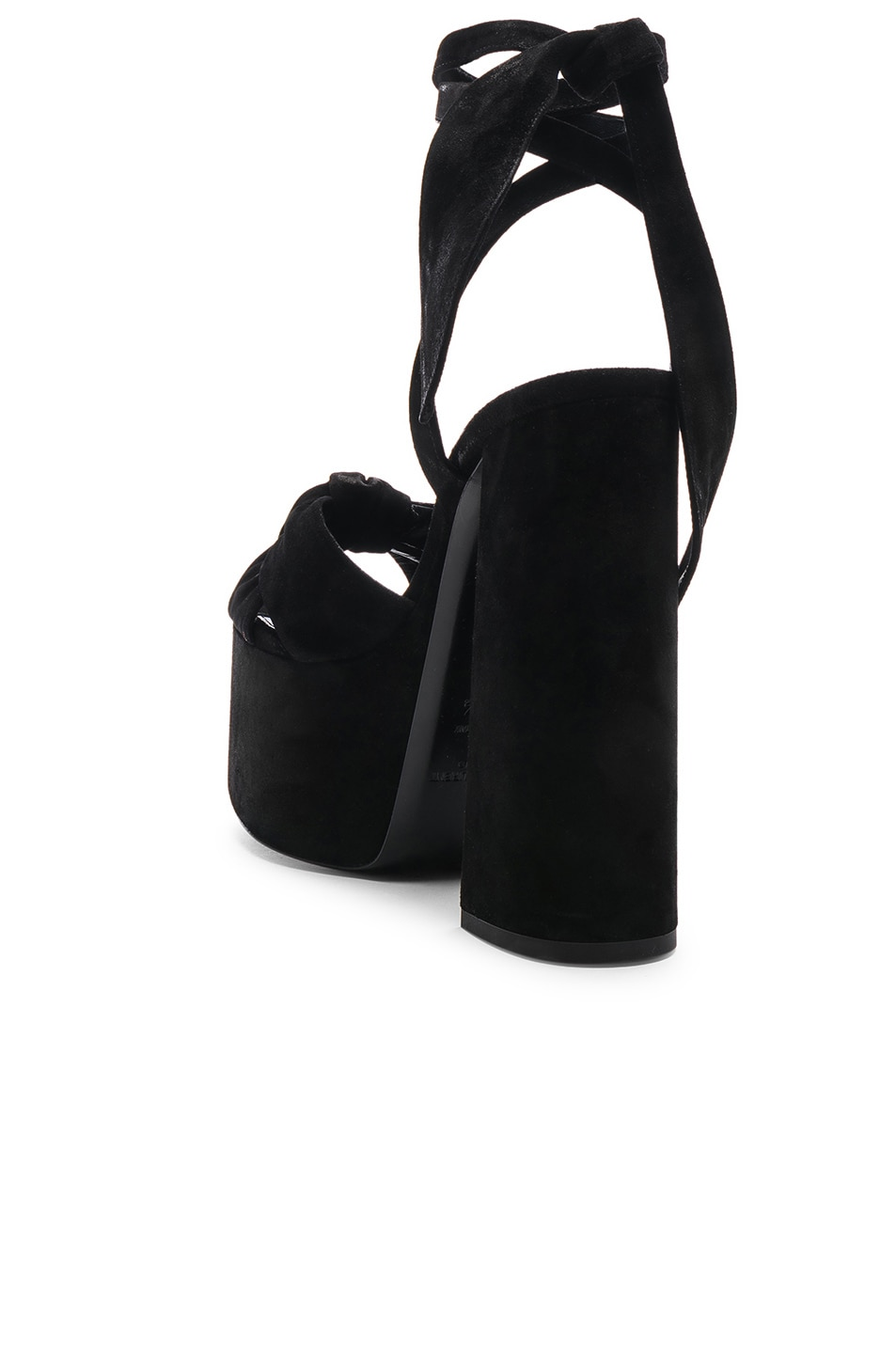 Image 3 of Saint Laurent Platform Sandals in Black