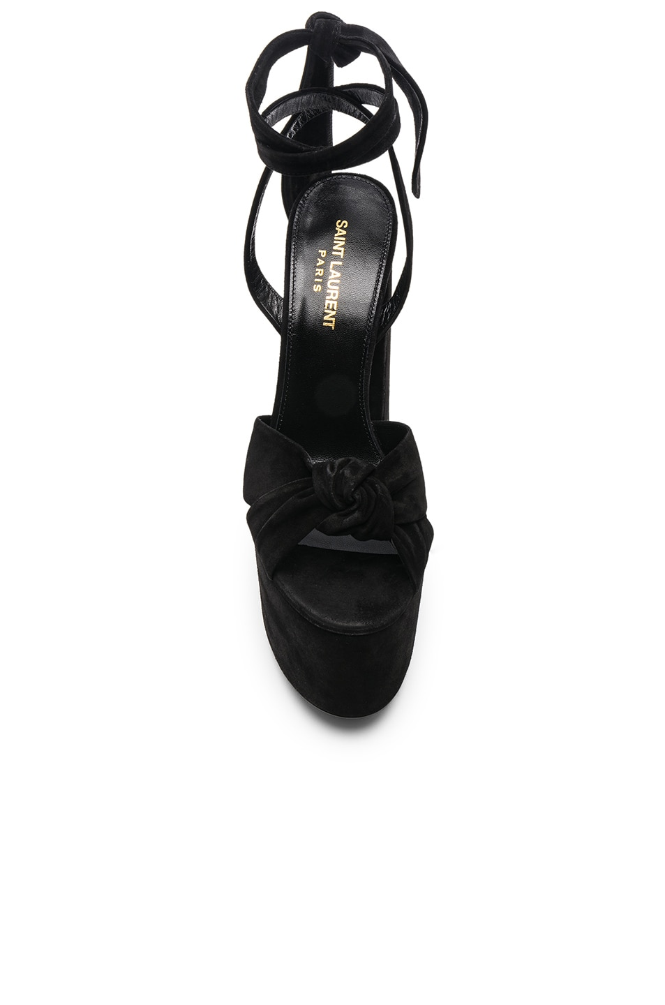 Image 4 of Saint Laurent Platform Sandals in Black