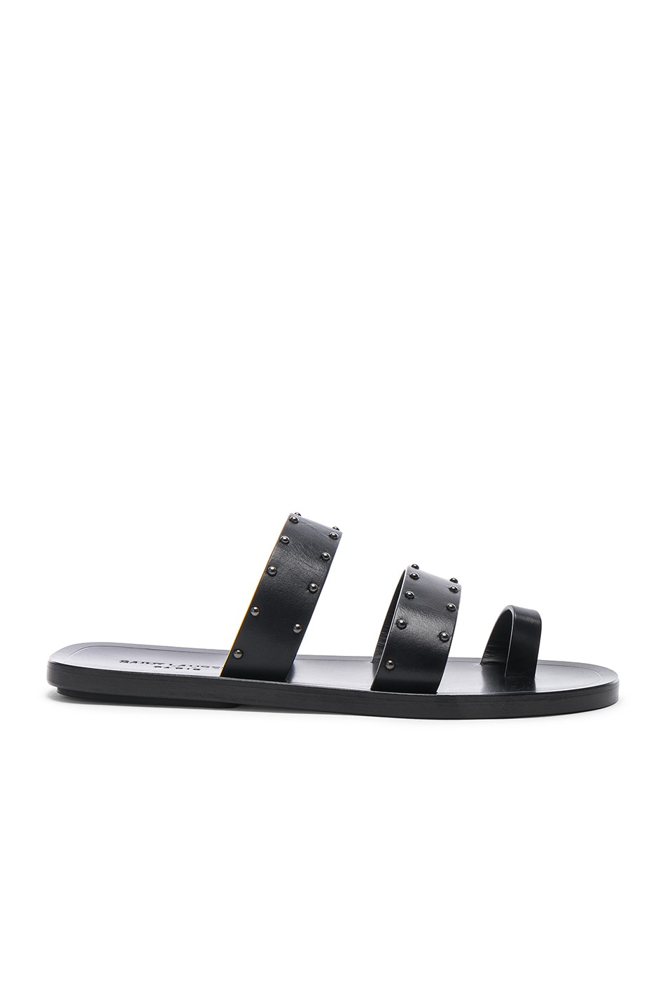 Image 1 of Saint Laurent Ashton Stud Sandals in Black
