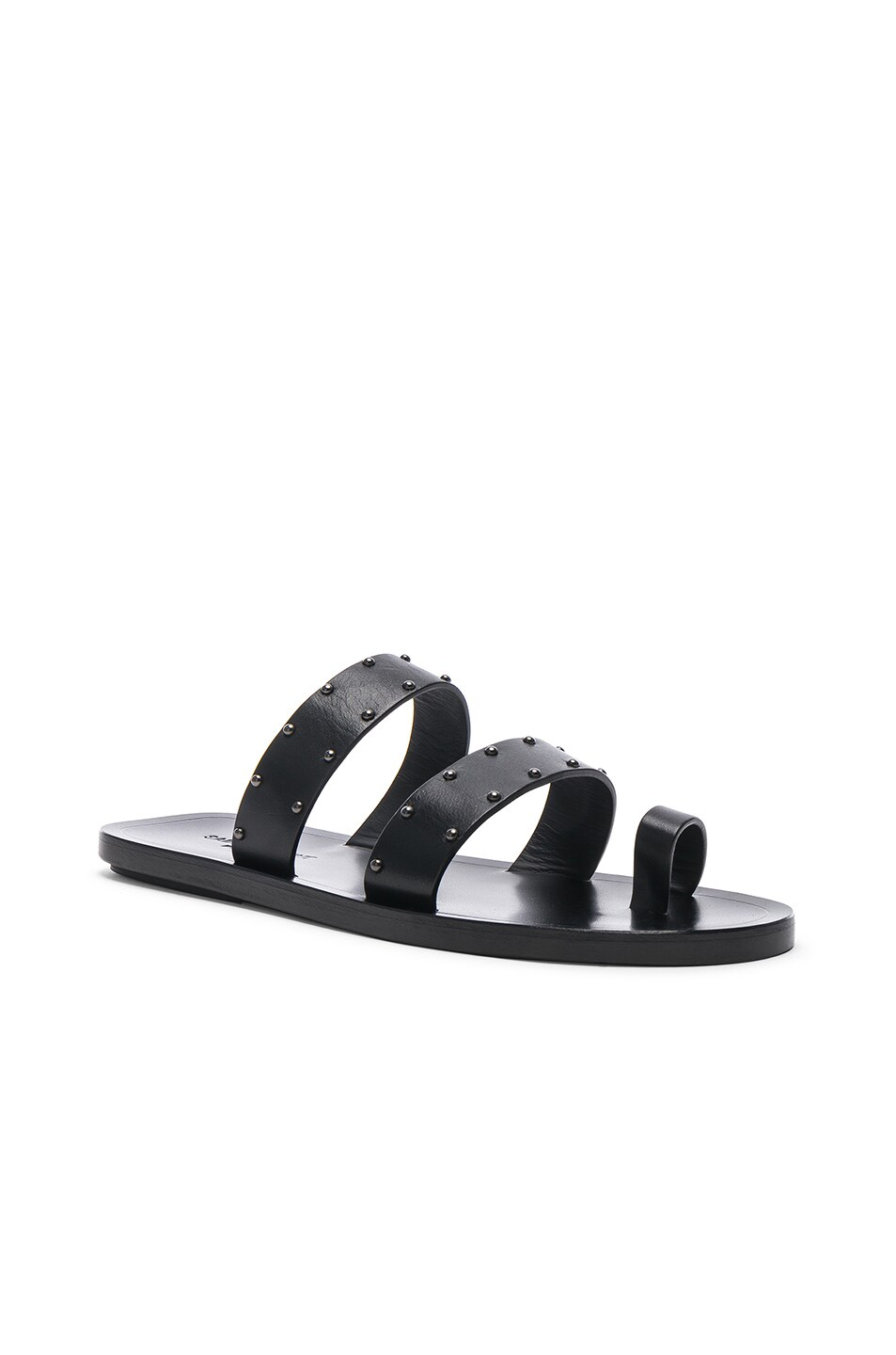 Image 2 of Saint Laurent Ashton Stud Sandals in Black