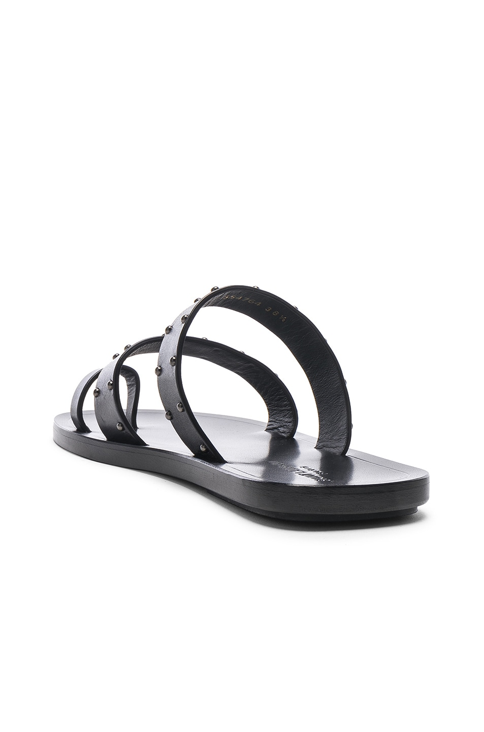 Image 3 of Saint Laurent Ashton Stud Sandals in Black