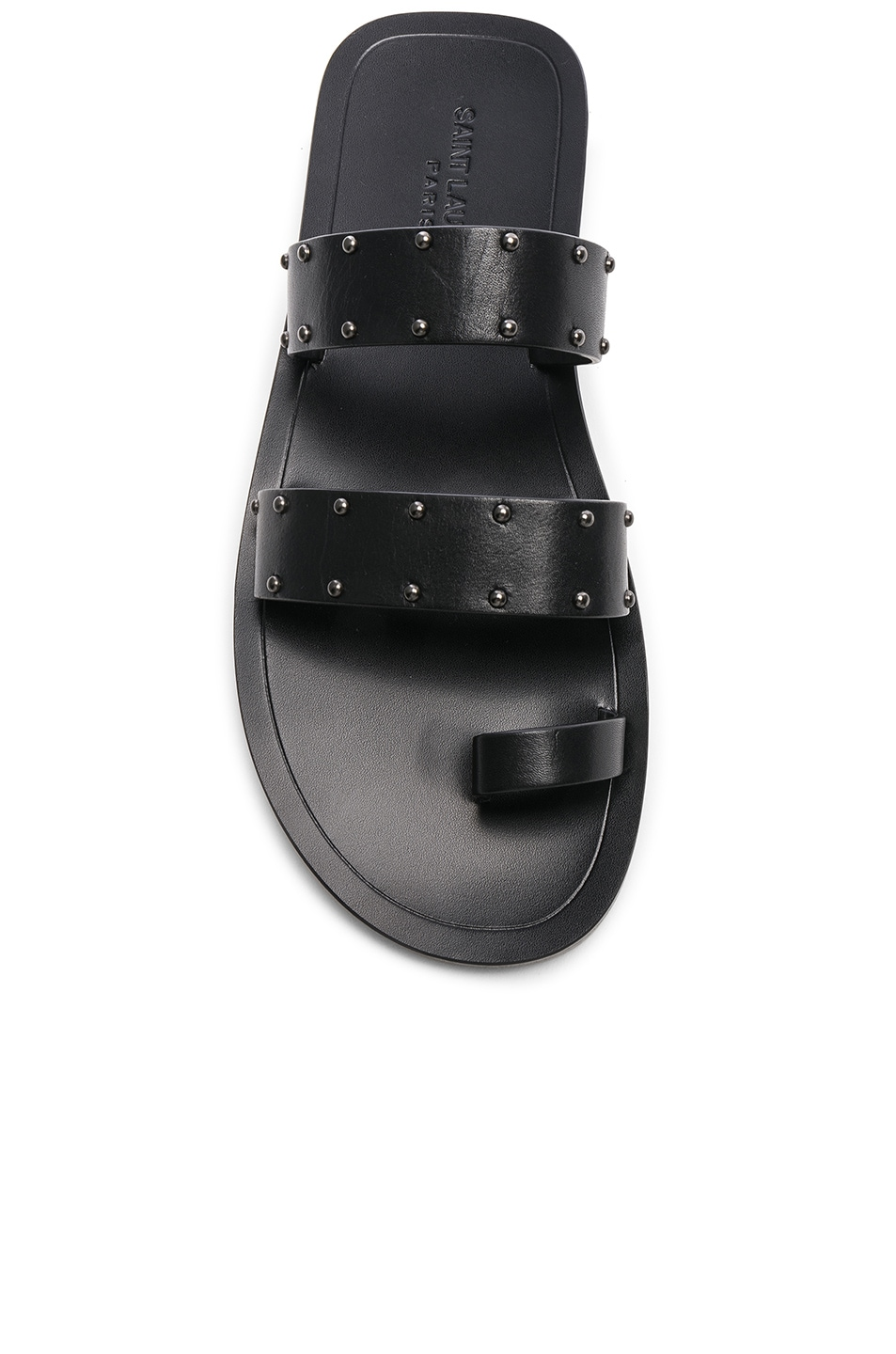 Image 4 of Saint Laurent Ashton Stud Sandals in Black