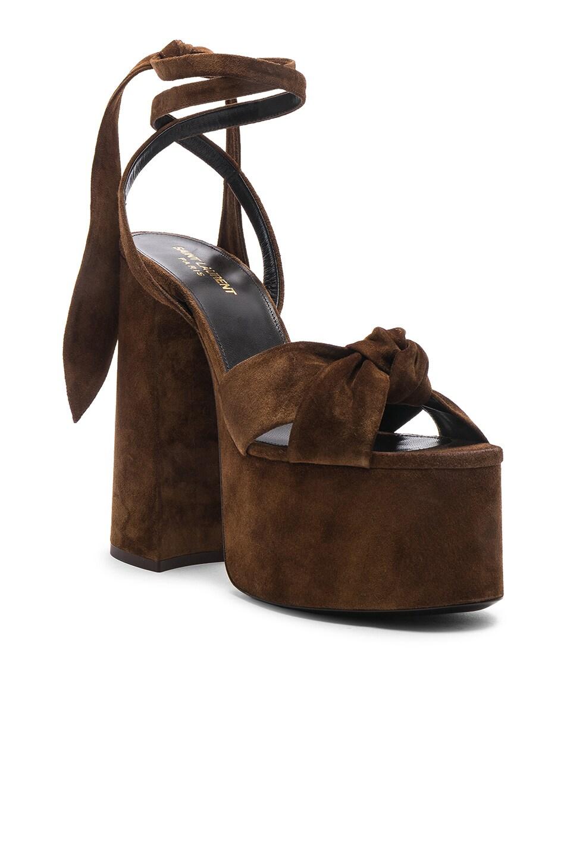 Image 2 of Saint Laurent Platform Sandals in Land