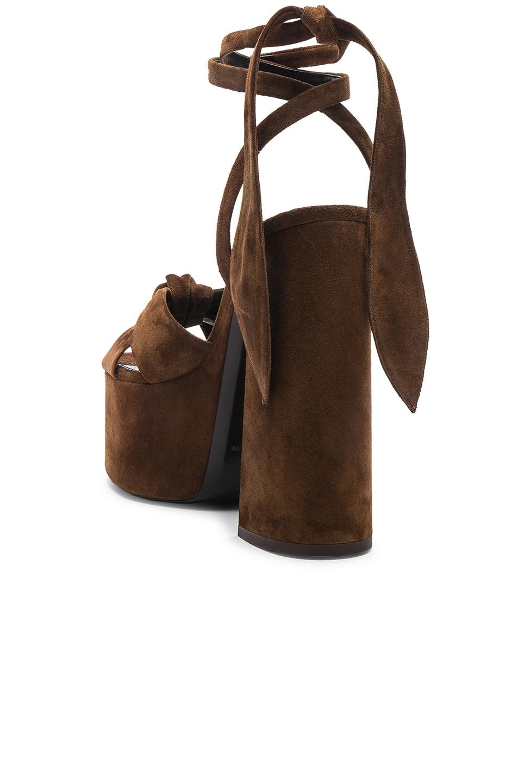 Image 3 of Saint Laurent Platform Sandals in Land