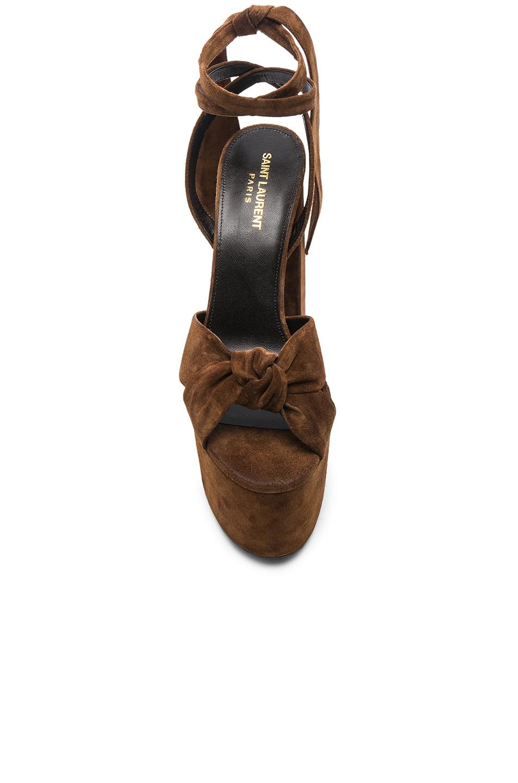 Image 4 of Saint Laurent Platform Sandals in Land