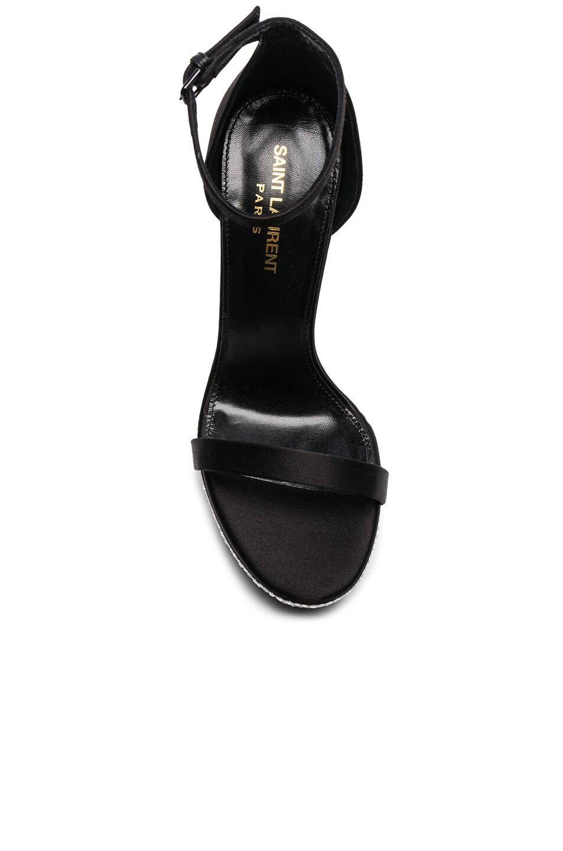 Image 4 of Saint Laurent Hall Embellished Ankle High Heels in Black