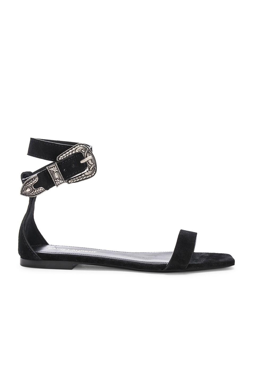 Image 1 of Saint Laurent Mica Buckle Sandals in Black