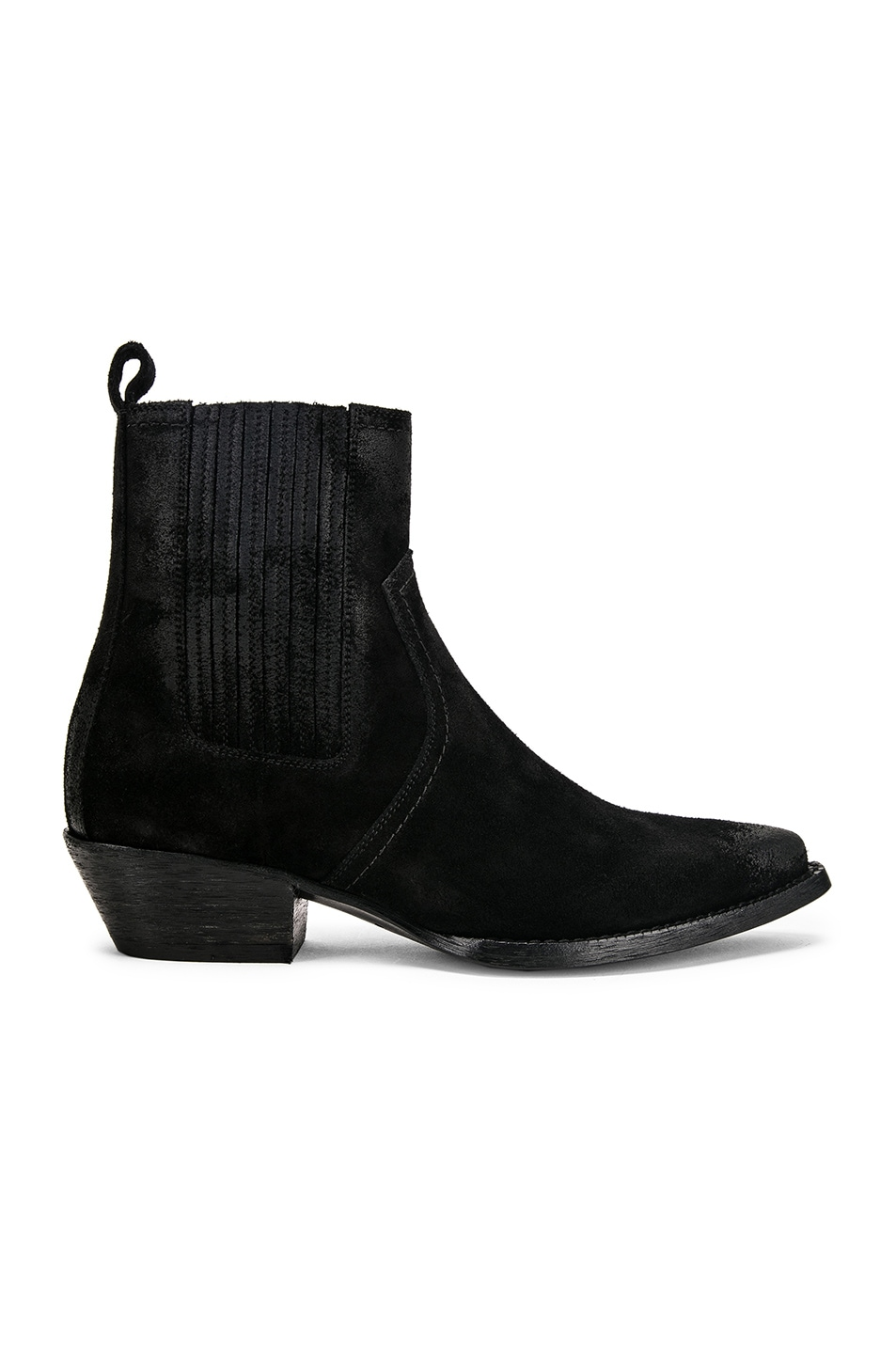 Image 1 of Saint Laurent Western Ankle Bootie in Black