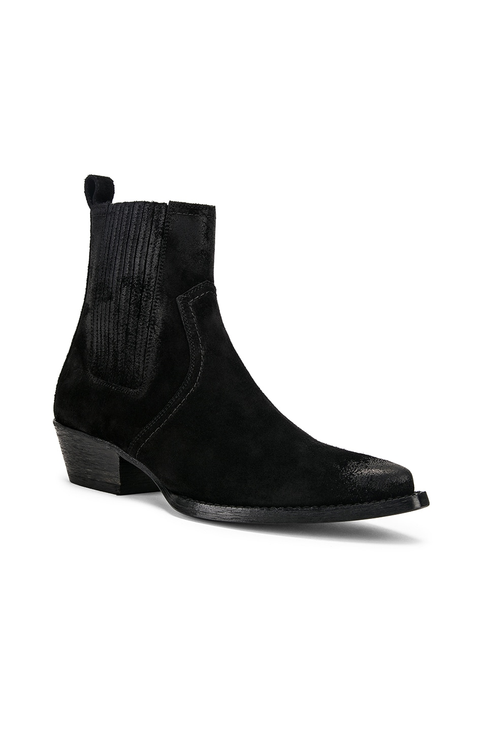 Image 2 of Saint Laurent Western Ankle Bootie in Black