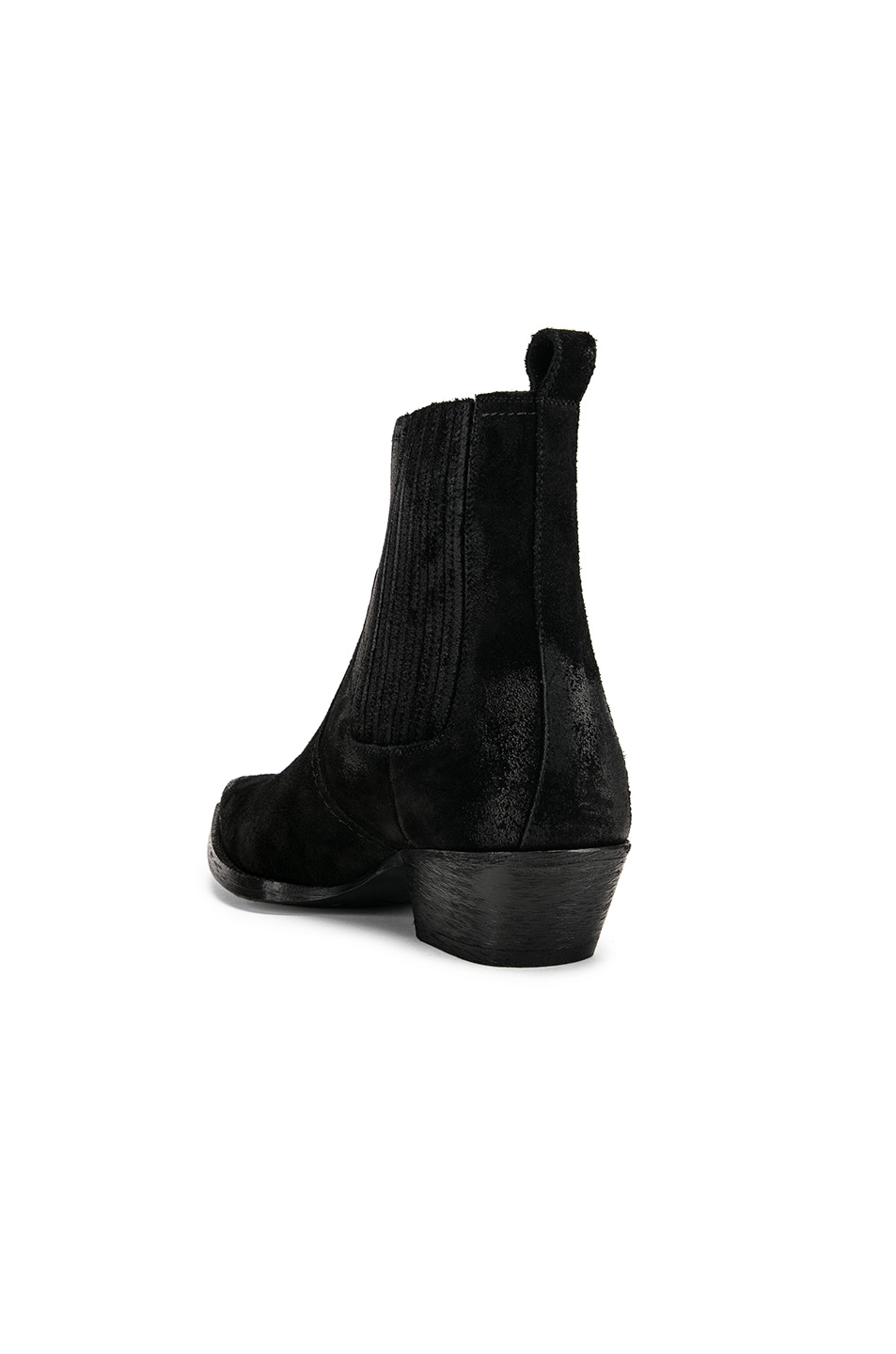 Image 3 of Saint Laurent Western Ankle Bootie in Black
