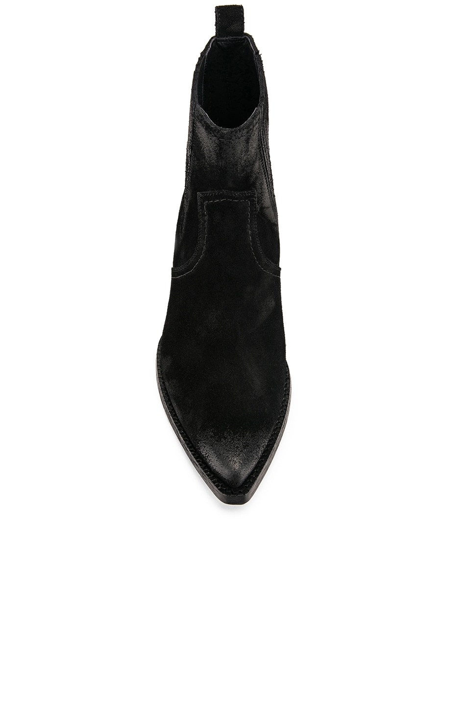 Image 4 of Saint Laurent Western Ankle Bootie in Black