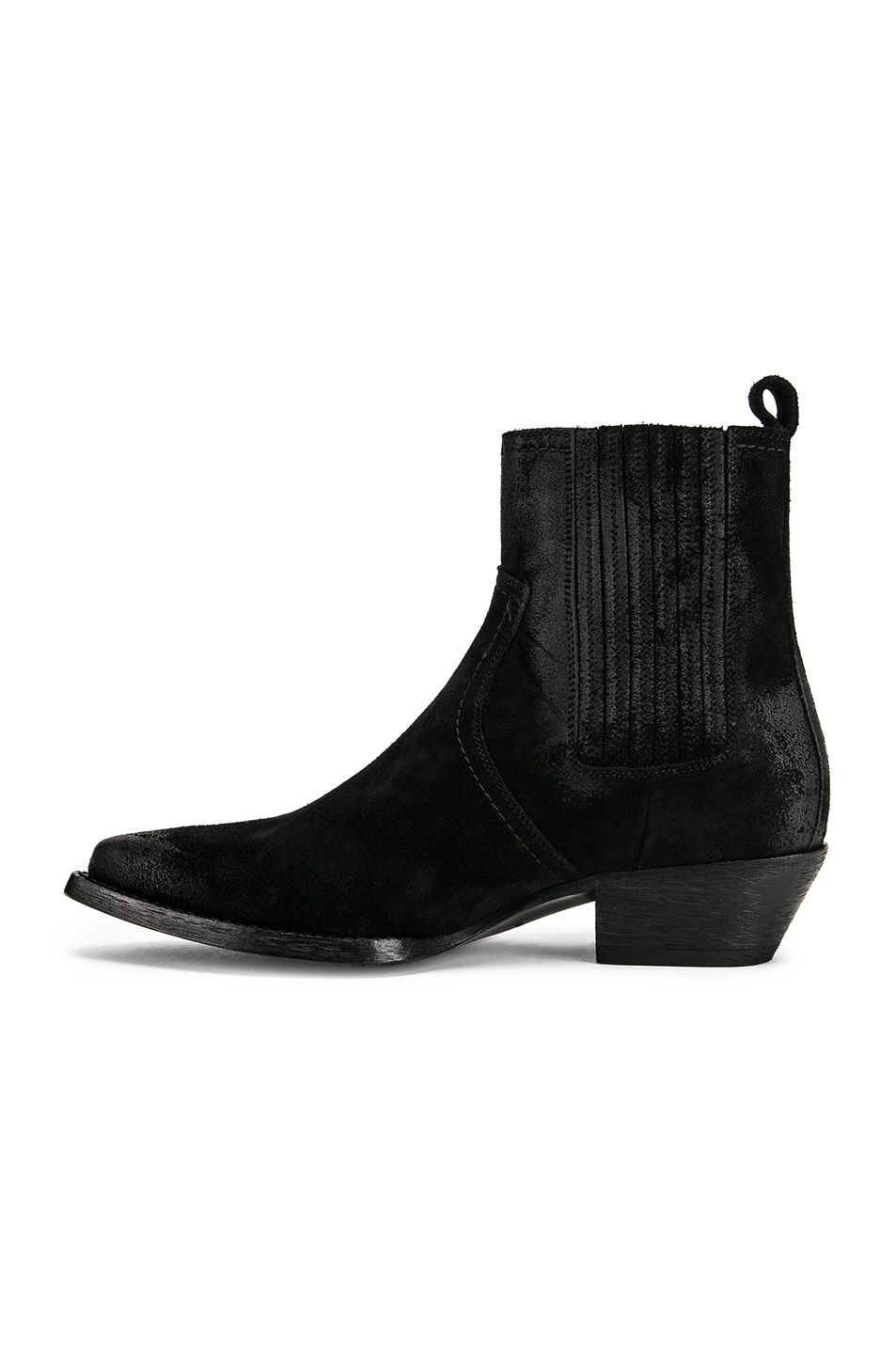 Image 5 of Saint Laurent Western Ankle Bootie in Black