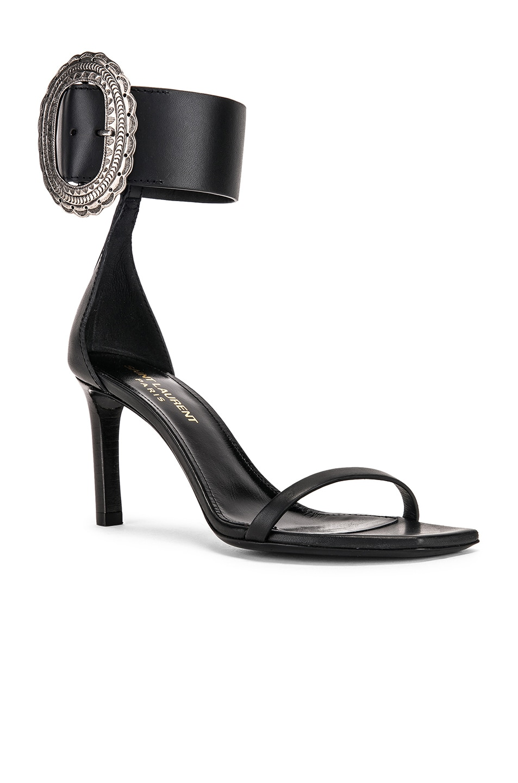 Image 2 of Saint Laurent Joplin Buckle Heels in Black