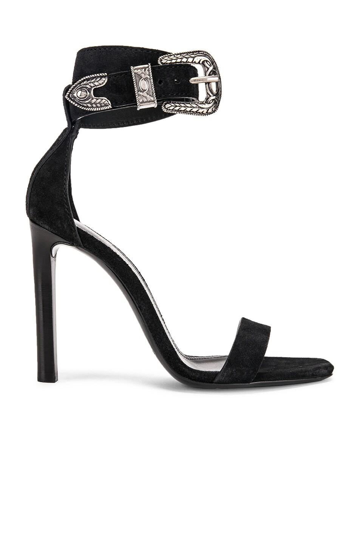 Image 1 of Saint Laurent Mica Buckle Heels in Black