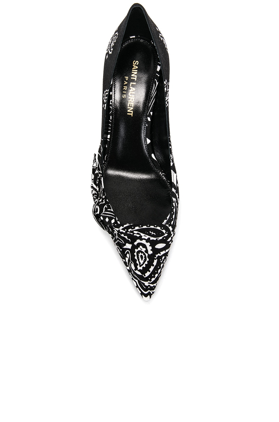 Image 4 of Saint Laurent Charlotte Bandana Heels in Black