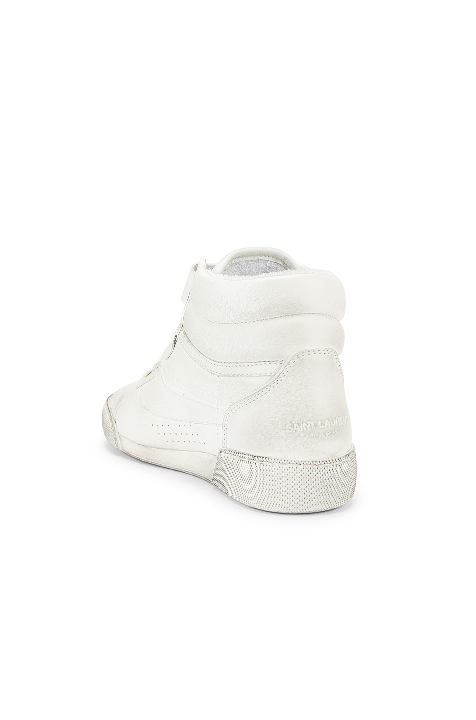 Image 3 of Saint Laurent High Top Sneaker in White