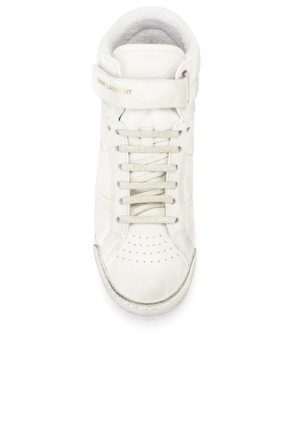 Image 4 of Saint Laurent High Top Sneaker in White