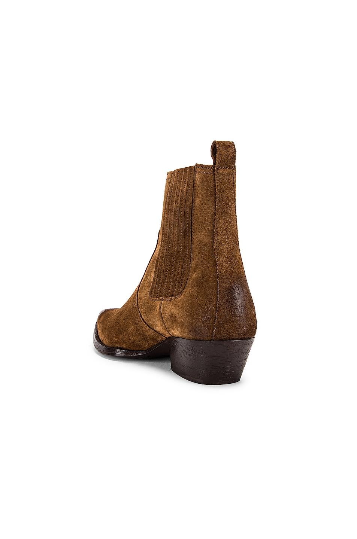 Image 3 of Saint Laurent Western Ankle Bootie in Brown