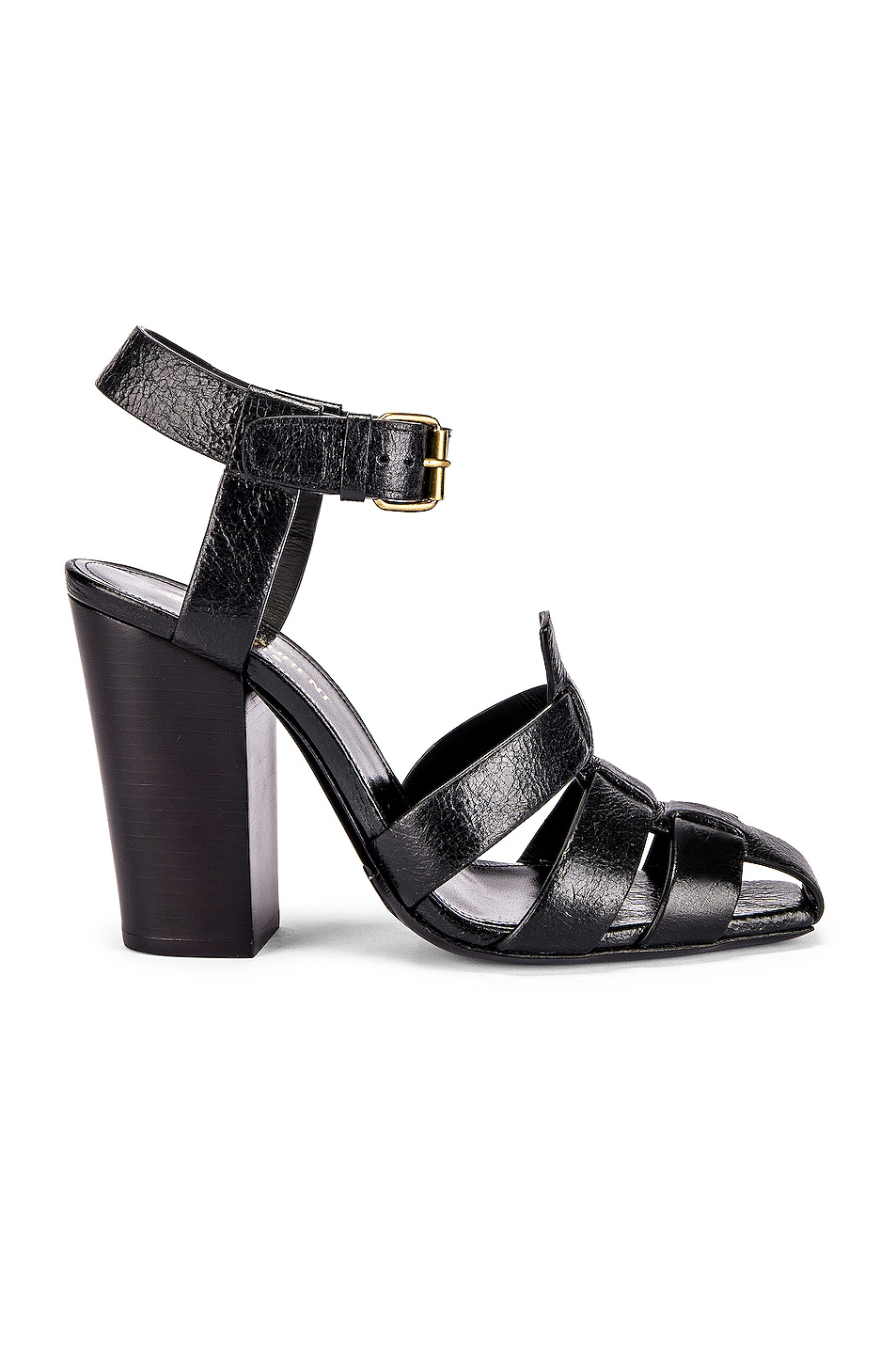 Image 1 of Saint Laurent Oak Sandals in Black