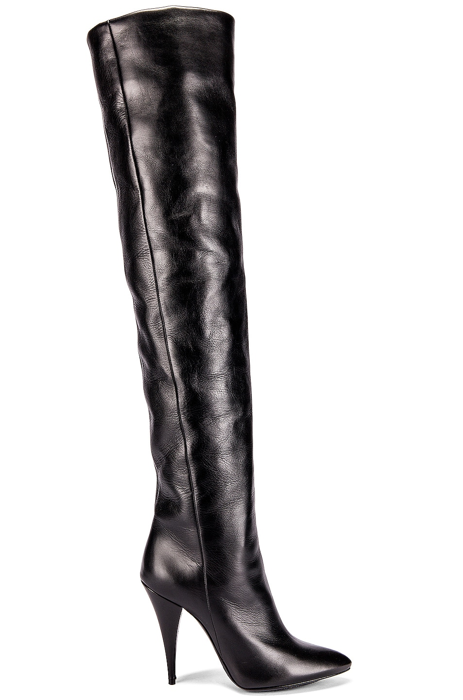 Image 1 of Saint Laurent Kiki Knee High Boots in Black