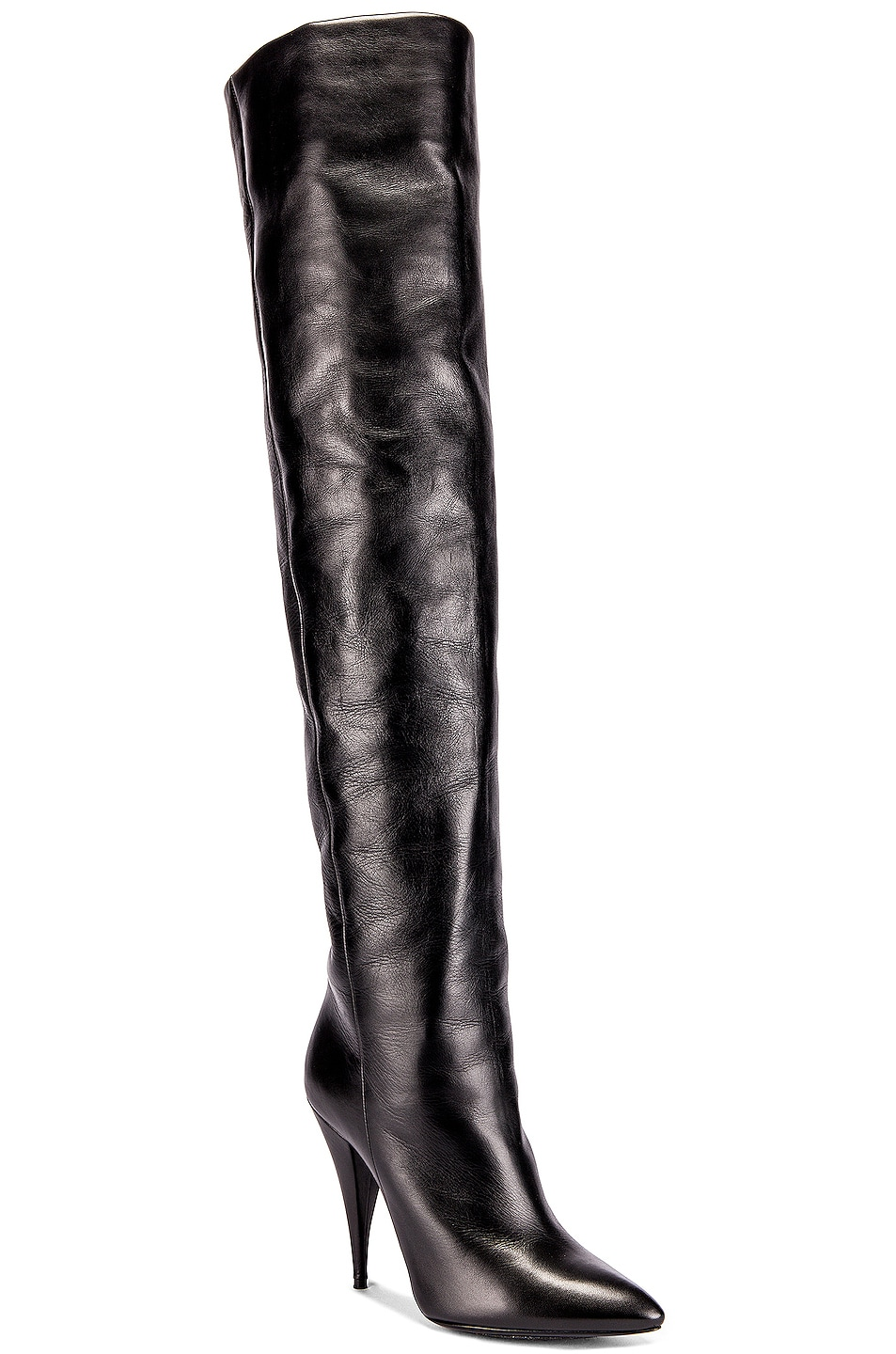 Image 2 of Saint Laurent Kiki Knee High Boots in Black