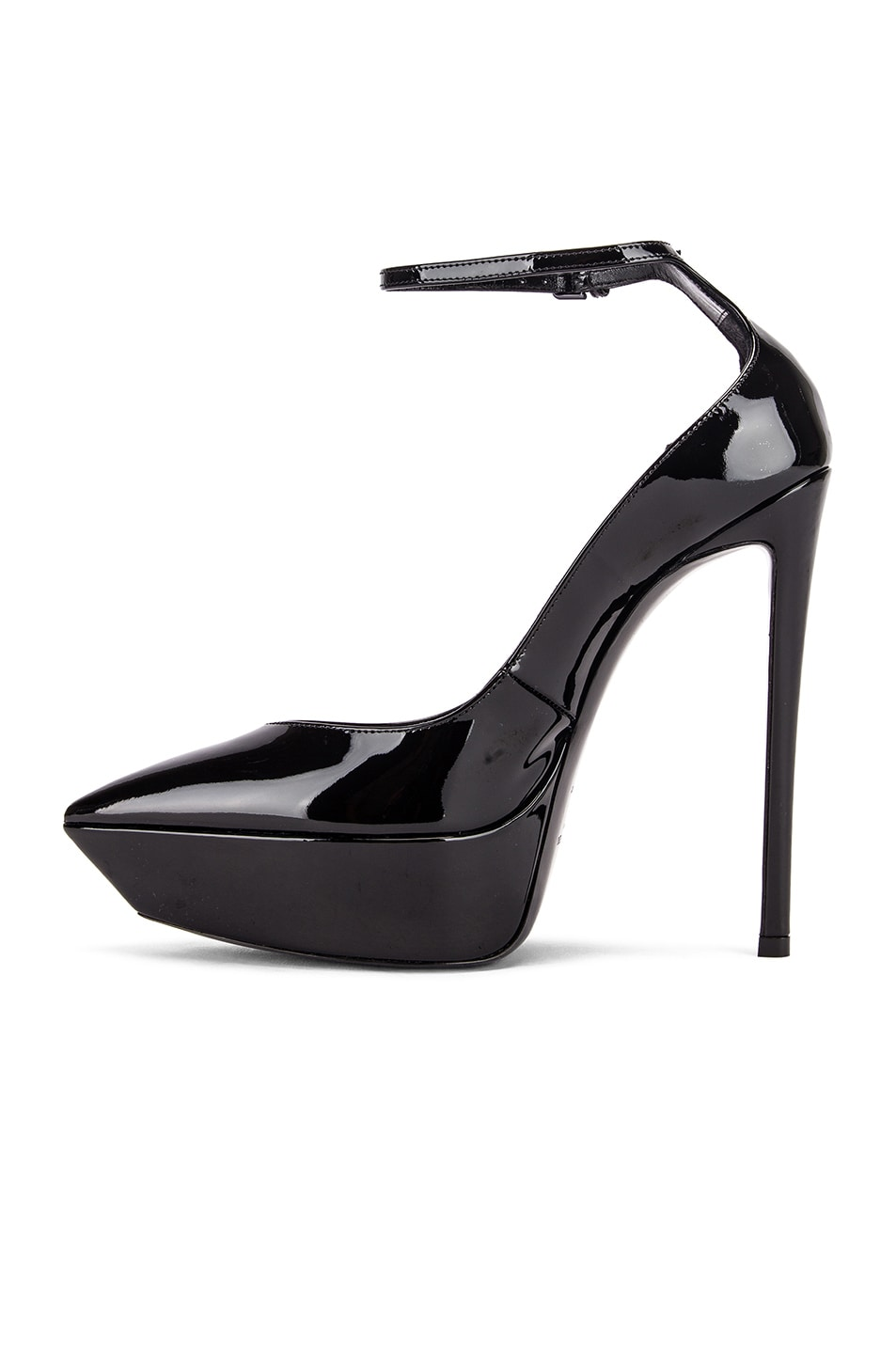 Image 5 of Saint Laurent Betty Ankle Strap Pumps in Black