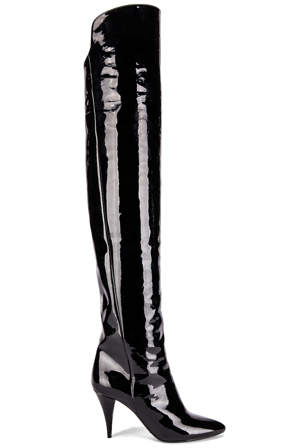 Image 1 of Saint Laurent Kiki Over the Knee Boots in Black