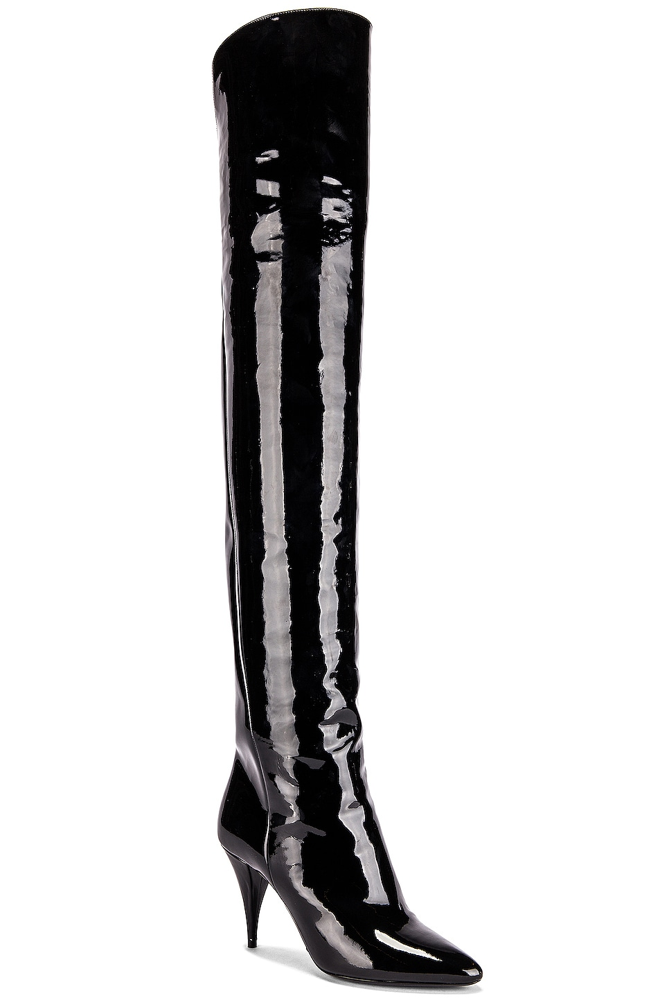 Image 2 of Saint Laurent Kiki Over the Knee Boots in Black
