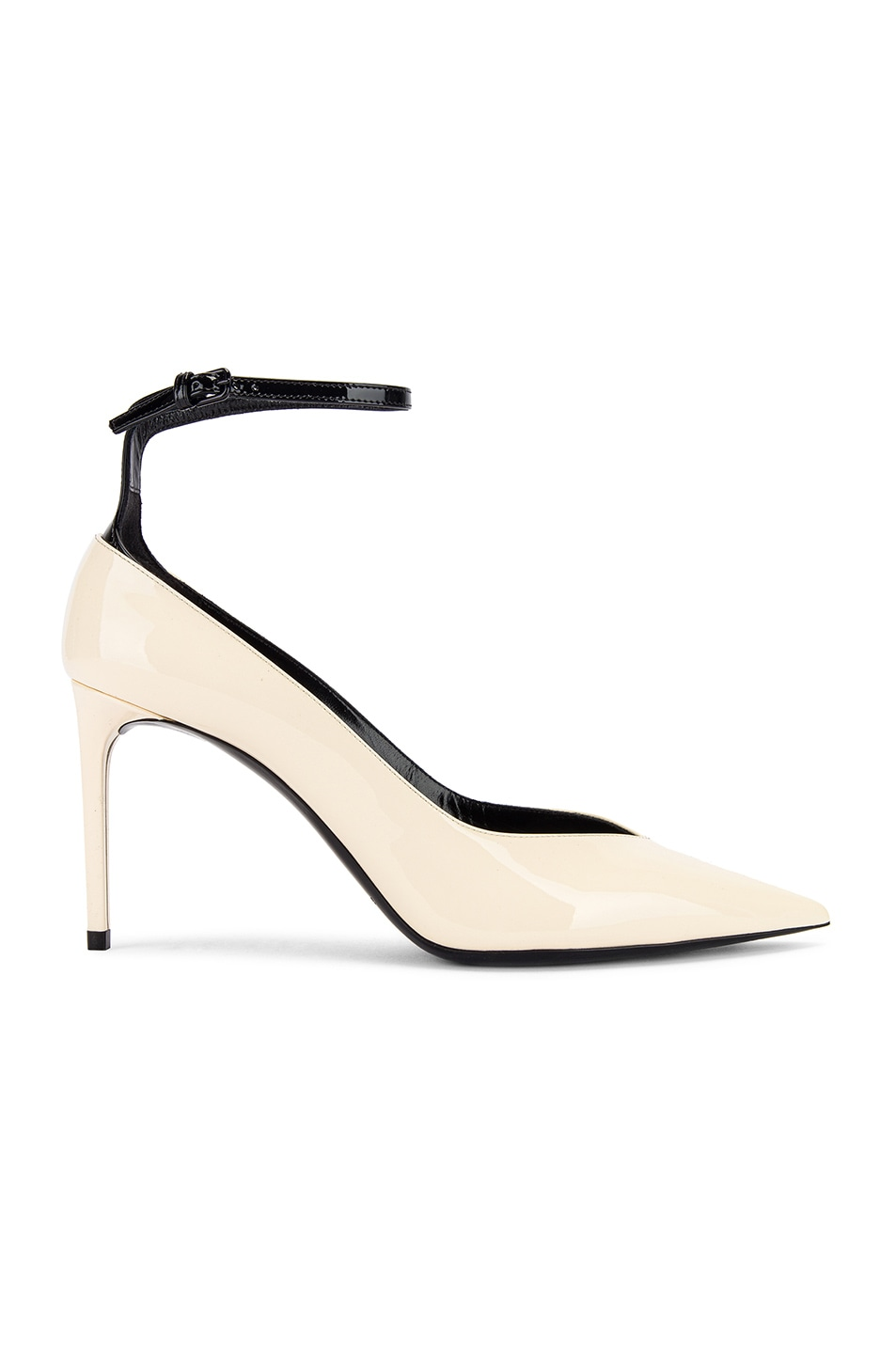 Image 1 of Saint Laurent Zoe Ankle Strap Heels in Black