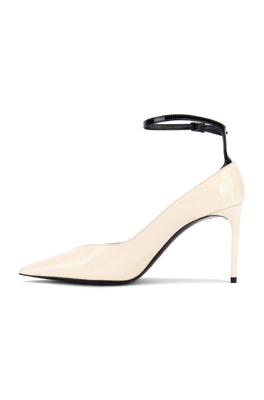 Image 5 of Saint Laurent Zoe Ankle Strap Heels in Black