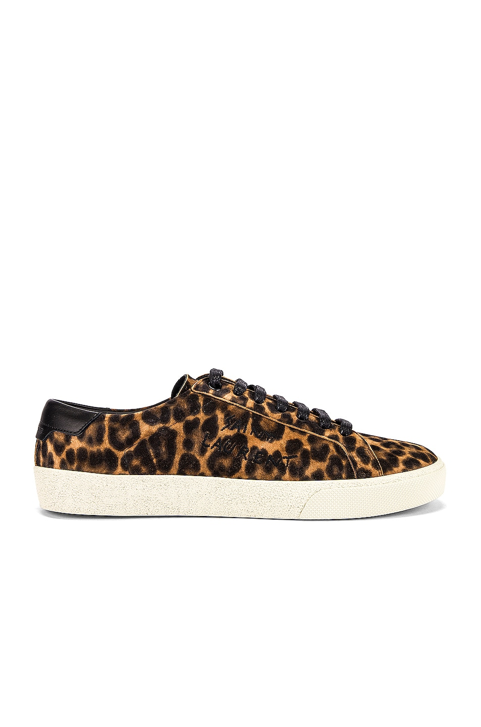 Image 1 of Saint Laurent Leopard Sneakers in Natural & Black