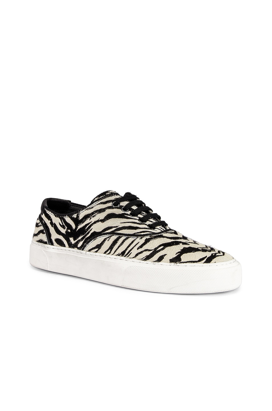 Image 2 of Saint Laurent Zebra Low Top Sneakers in Black & White